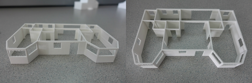 A 3D model of Angelina's architecture project.