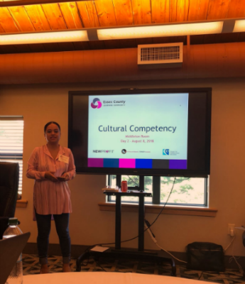Karla E. Vigil leads a session on cultural competency.