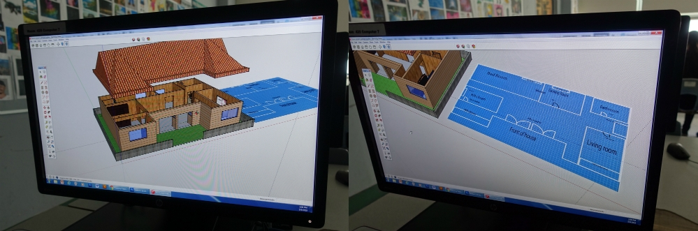 An image of Samuel's digital house design.